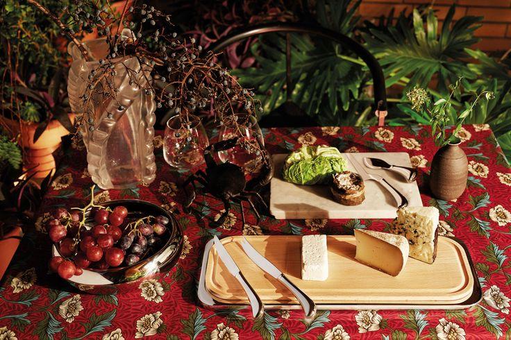 Schönes aus Italien: Käsemesser-Set 4 tlg. aus Edelstahl.