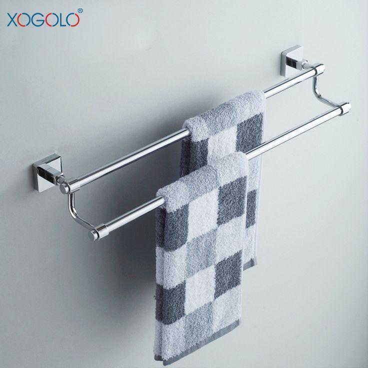 Дешевое Xogolo бар ванная комната полотенце дважды бар полный меди ванная вешалка для полотенец полотенце висит ванной аппаратных аксессуаров 8648, Купить Качество Бамбуковые полы непосредственно из китайских фирмах-поставщиках: