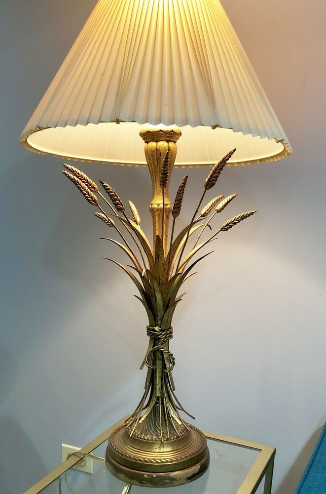 Frederick Cooper Wheat Sheath Table Lamp Metal Ebay Lamp Table Lamp Metal Lamp