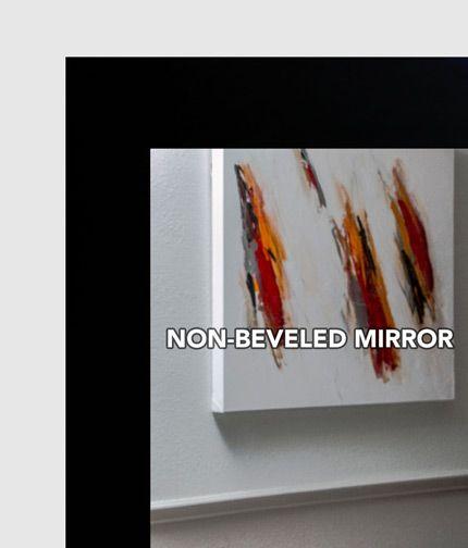 Gallery For Website MAL Black Framed Mirror Large Mirror Bathroom Mirror Custom Sized