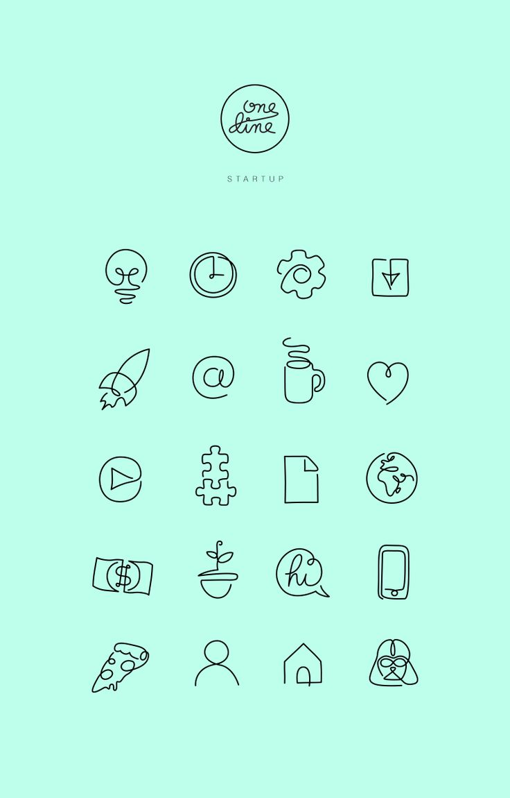 https://www.behance.net/gallery/28491041/One-line-Free-Startup-icons