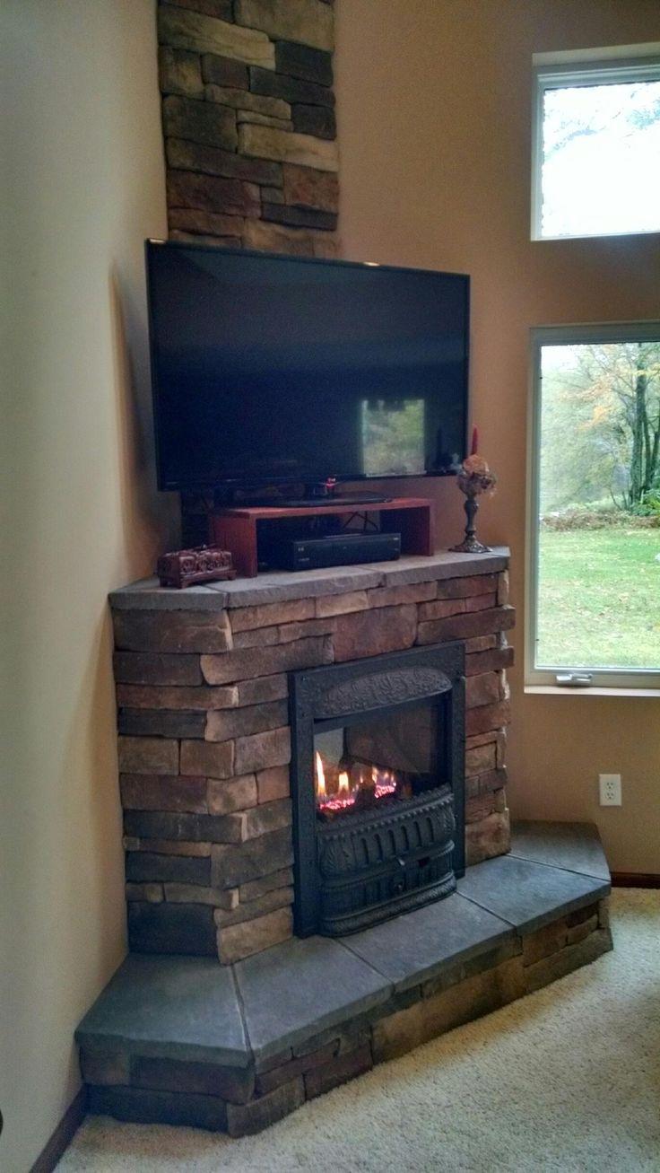 Luxury Corner Stone Gas Fireplace