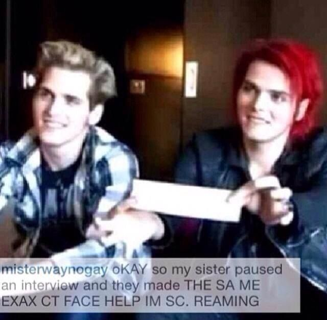 My Chemical Romance ~ Gerard and Mikey Way wow they are so similar....