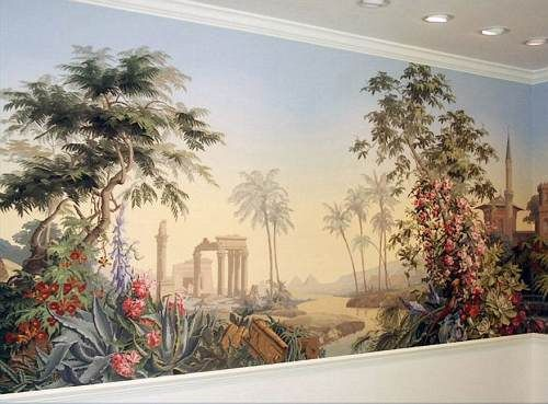 Top zuber chinoiserie wallpaper wallpapers for Colonial mural wallpaper
