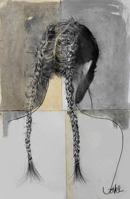 freya , Loui Jover - i like this use of media (4 different media). i could use different paper in a quad display. it show development