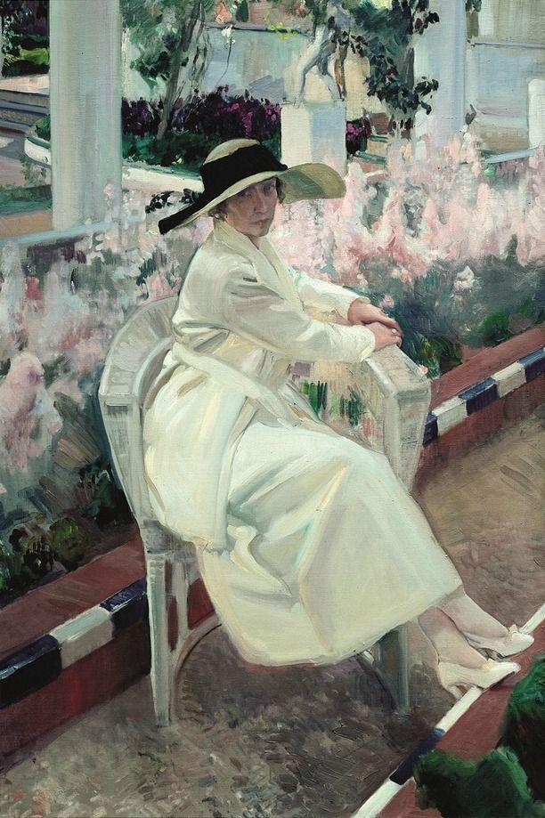 Retrato de Clotilde en el Jardín. Sorolla. 1919