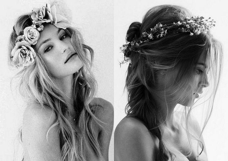 corona di fiori freschi finti secca come lana del rey tendenza moda accessori estate 2013