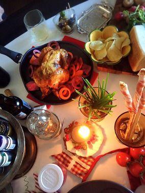 今日すぐ出来る!簡単 丸鶏のハーブ焼き 皮ぱりっぱり 内側ジューシー クリスマス家バル女子会で丸鶏解体ショー! - スパイス大使 -|レシピブログ