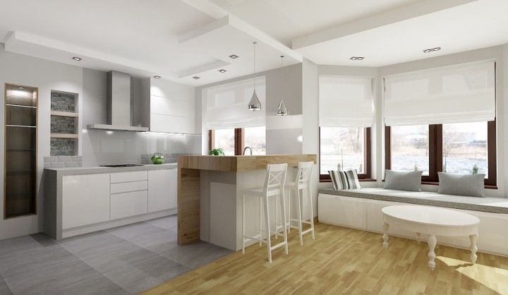 Kitchen with breakfast bar by All-Design