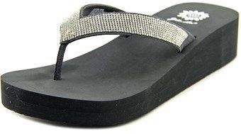 Yellow Box Cliff Women Open Toe Synthetic Silver Wedge Sandal.