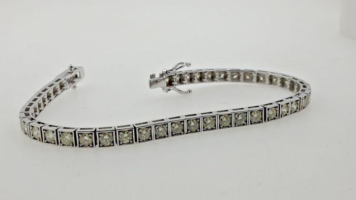 4.35 ct fancy gele ronde briljante tennis armband gemaakt van 14 kt wit goud - ca. 18cm  Ladies' diamond tennis braceletEdelsteen: Natuurlijke aarde diamantVorm: rondeKaraatgewicht: 4.35 ct (44 stones)Kleur: natuurlijke fancy yelllowDuidelijkheid: SI214 kt witgoud.Hij weegt 12.00 gOngeveer 18 CM meetVergrendeling gesp voor extra veiligheidKomt in een mooie geschenkverpakking!Objectnummer: JX-01Ingeschreven en verzekerde verzendingUw land kan het opleggen van heffingen/belastingenDeze diamant…