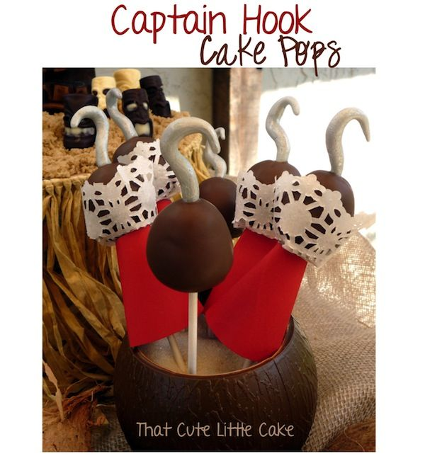 Captain Hook Cake Pops Party Eats and Treats