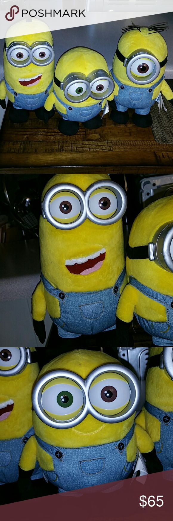 🍌🍌Minions (Kevin, Bob, Stuart)🍌🍌 Official Illumination Entertainment Product. This listing is for three main Minions from the movie 2015 Minions. Clean, no stains or tears. With original tags. Illumination Entertainment Other