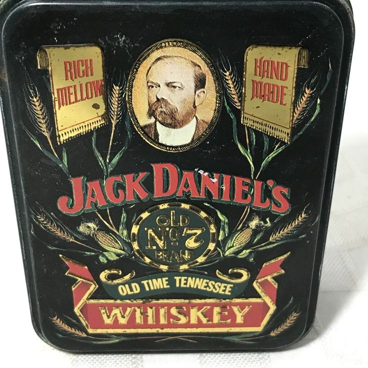 Vintage Jack Daniels Old Time Tennessee Whiskey Tin No 7 England