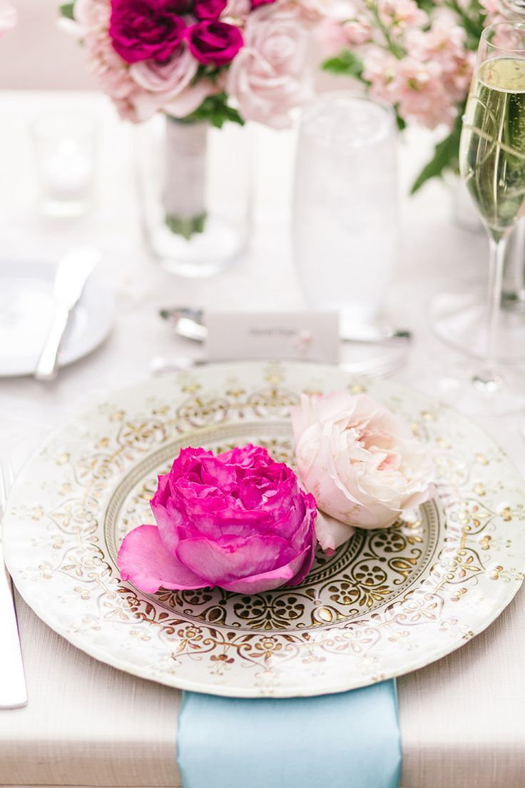 California Garden Wedding Layered with Pink