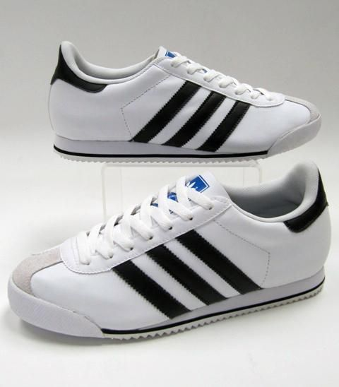 Adidas Kick Trainers in White  Black
