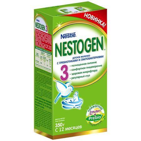Nestogen 3 Заменитель с 12 мес. 350 г  — 266р. -----------------  Nestogen® 3 (Нестожен 3) Сухое молочко с пребиотиками и лактобактериями L.reuteri, без пальмового масла, для детей с 12 месяцев, 350 г- Молочко Nestogen® 3  содержит натуральные пищевые волокна Prebio® (пребиотики ГОС/ФОС), которые помогают пищеварению и способствуют формированию регулярного стула. Лактобактерии L.reuteri, входящие в состав молочка, помогают наладить комфортное пищеварение и способствуют становлению здоровой…