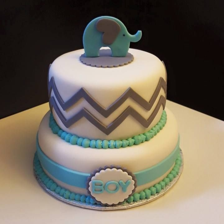 Baby elephant inspired shower cake to welcome the little one.    #chevron #babyelephant #itsaboy #lemon #marble
