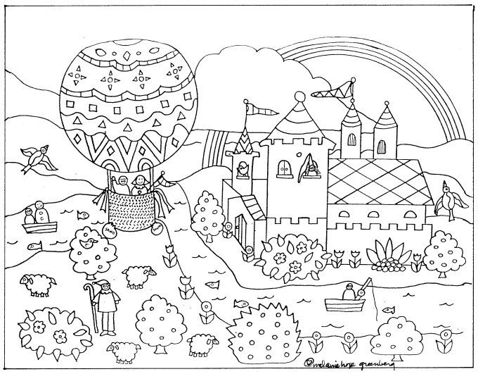 Imaginative Fairy Tale Coloring Page Fairy Tale And Book