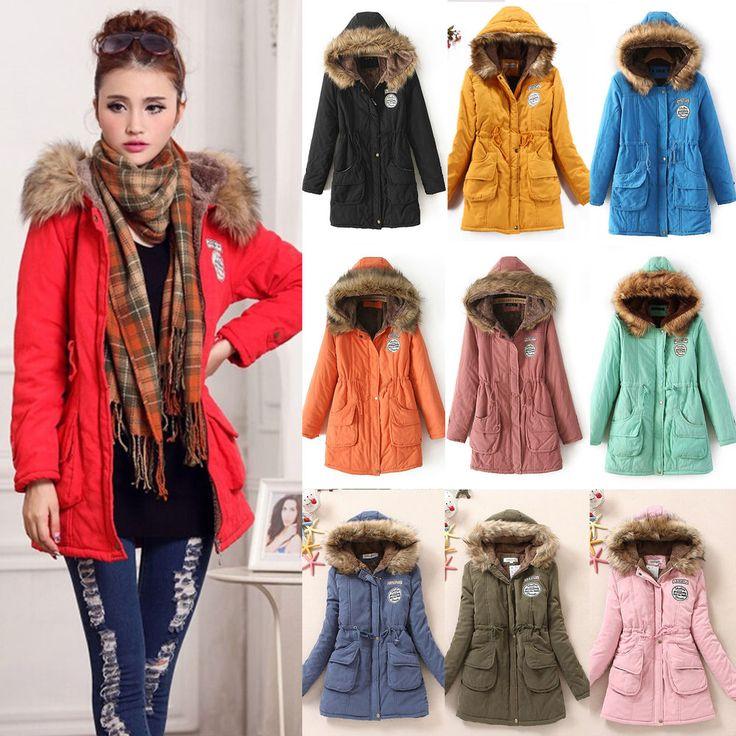 Women Thicken Fleece Faux Fur Winter Warm Coat Hooded Parka Long Jacket Overcoat #Unbranded #FleeceJackets #Casual