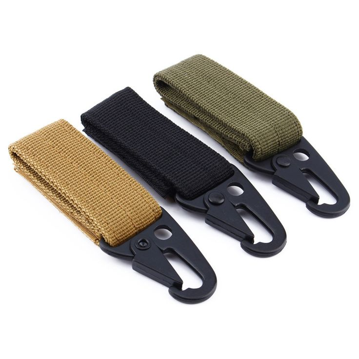 Airsoftsports High Strength Nylon Key Hook MOLLE Webbing Buckle Hanging System Belt Buckle Hanging Camping Hiking Accessories #Affiliate
