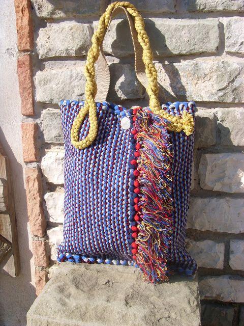 weaving wall art and bags:            Χειροποίητη υφαντή τσάντα ώμου μεγάλου ...