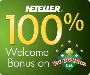 Deposit With Neteller and Win an iPad Mini!  Welcome Bonus:  To gladly welcome new registered players, EuroCasinoBet issues 100% bonus on first deposit up to a maximum deposit of €200. With this, we say hello to our players.