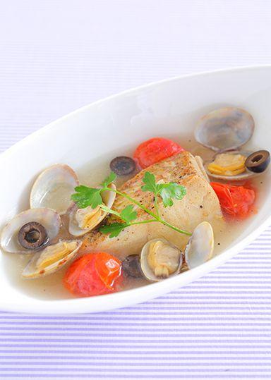 鯛のアクアパッツァスープ のレシピ・作り方 │ABCクッキングスタジオのレシピ | 料理教室・スクールならABCクッキングスタジオ