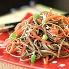 "Cold Szechuan Noodles and Shredded Vegetables | ""In a word: yum! This is an excellent recipe."" #recipe #lunch"
