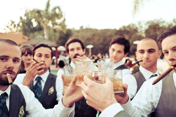 Getting dapper as f***, drinking some scotch, smoking some cigars with my homies. Good times.