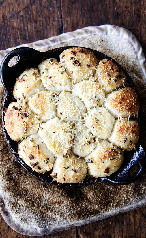 Garlic and Thyme Monkey Bread with Spicy Tomato Sauce Recipe