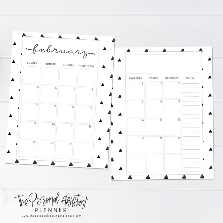8.5x11 2017 Dated Months Printable Planner Insert Pages - The Personal Assistant Business Planner