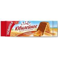 Печенье Большевик Юбилейное с глазурью Сливочная карамель фото