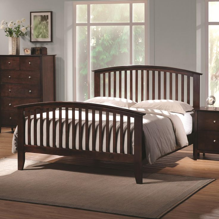Best Tia Queen Headboard Footboard Bed With Tapered Legs By 640 x 480