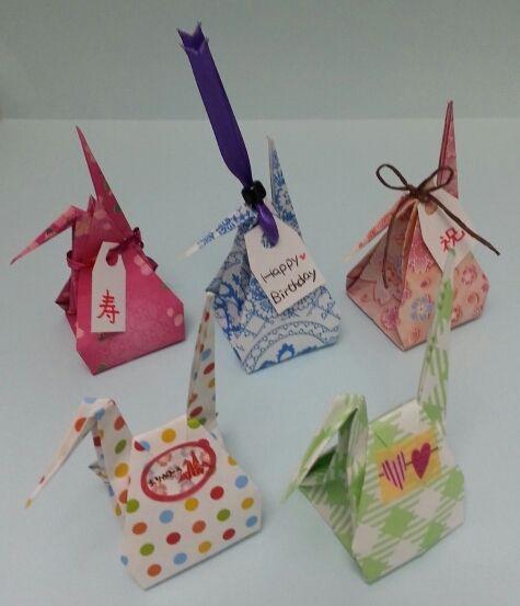 お福分け鶴|折り紙の楽しみ