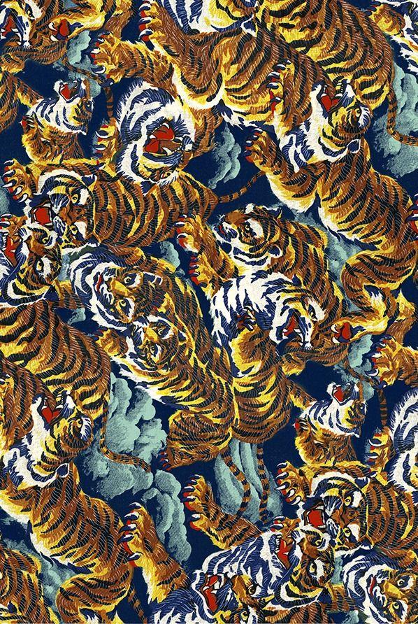 #Kenzo Tiger Print #pattern