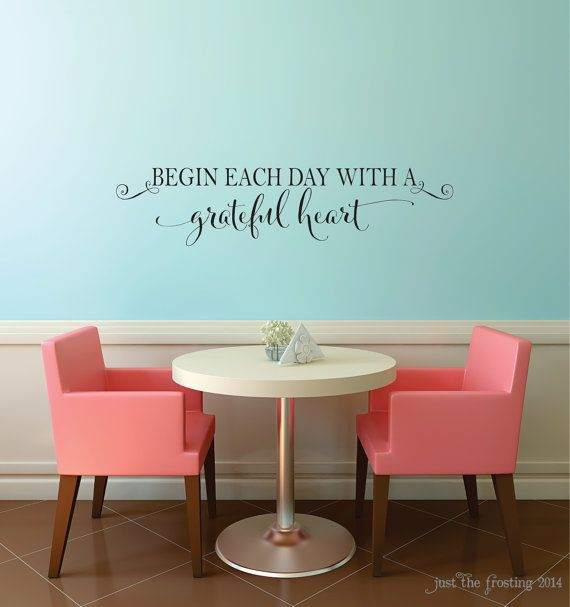 Begin Each Day With A Grateful Heart Vinyl by JustTheFrosting, $10.00