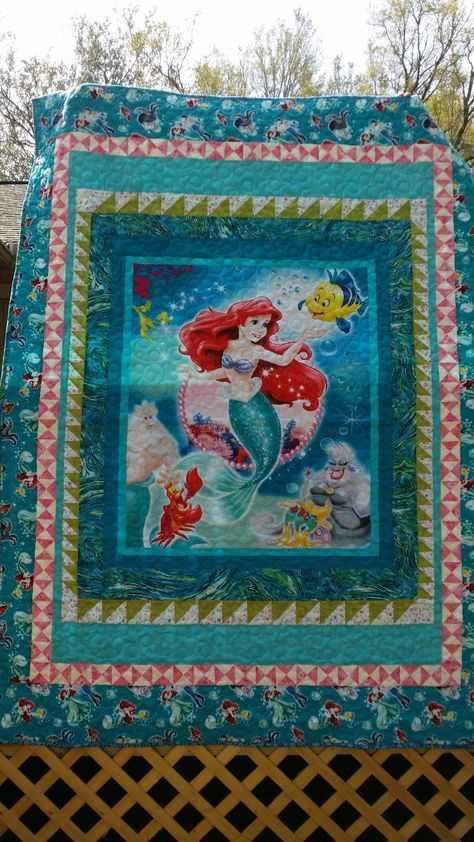 The Little Mermaid Panel Quilt Made For Addison Using
