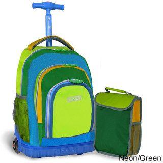 J World 'Lollipop' 16-inch Kid's Rolling Backpack and Lunchbag   Overstock.com Shopping - The Best Deals on Kids' Rolling Backpacks