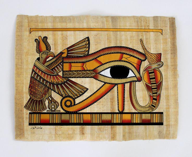 Eye of Horus II | Ancient Egyptian Papyrus Painting | Eye ...