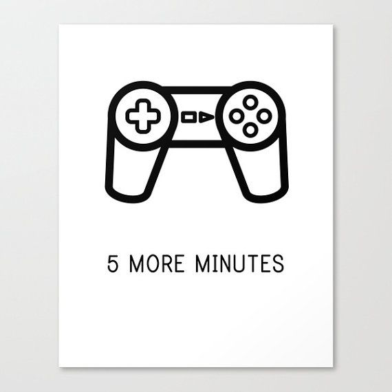 PlayStation Controller Poster  Video Game by WordsMakeaSentence, $7.00