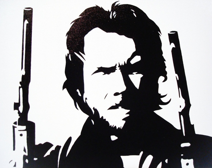 The Outlaw Josey Wales: Black & White Pop Art Canvas ...