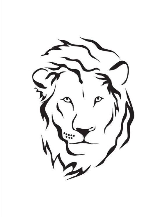 Tattoosonneck Simple Lion Tattoo Lion Head Tattoos Tribal Lion Tattoo Outline of a lion tattoo fabulous black outline leo sign lion tattoo. simple lion tattoo lion head tattoos
