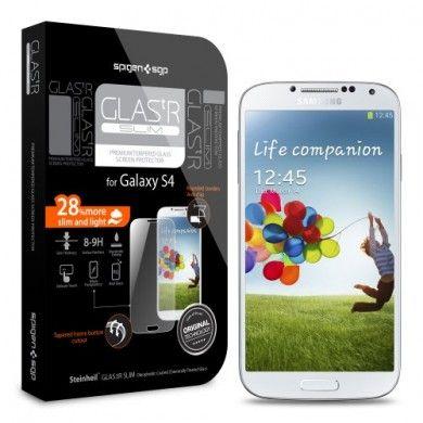 Protector Pantalla Galaxy S4 Spigen SGP Cristal Templado Oleophobic Glas.tR SLIM