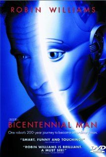 "Bicentennial Man (1999) - An android endeavors to become human as he gradually acquires emotions.    Director: Chris Columbus  Writers: Isaac Asimov (short story ""The Bicentennial Man""), Isaac Asimov (novel).   Stars: Robin Williams, Embeth Davidtz and Sam Neill"