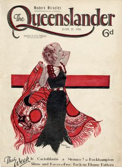 Poster Cover from The Queenslander 1935 - The Red Shawl