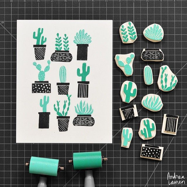 Andrea Lauren (@inkprintrepeat) | Making use of some leftover bits of carving block | Intagme - The Best Instagram Widget