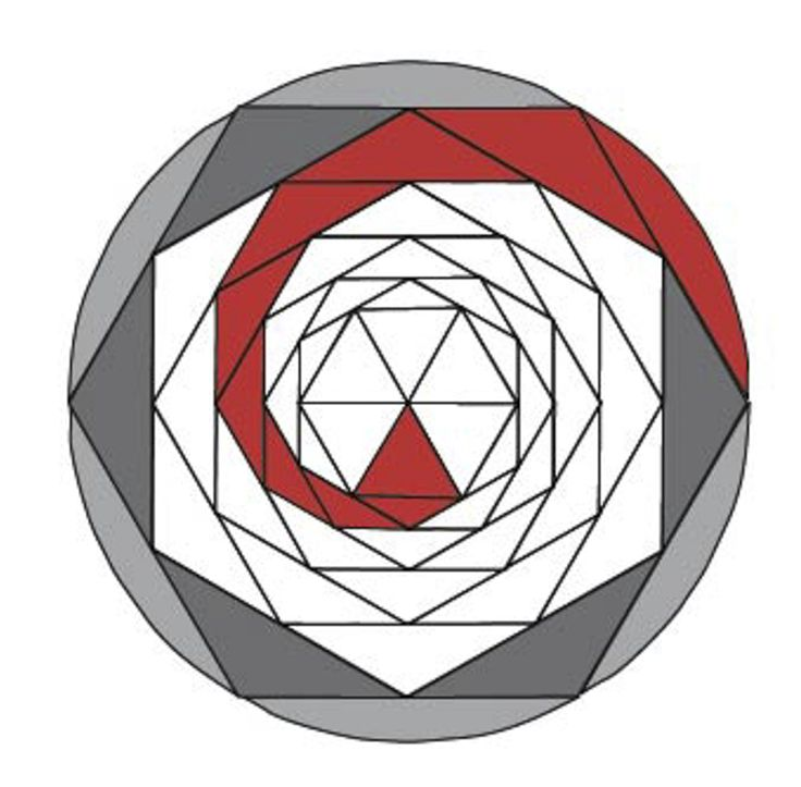 Spirals are so named because the construction triangles are placed in rings within a shape. However, in triangles, squares and rectangles t...