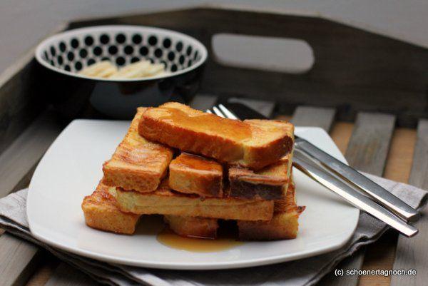 Schöner Tag noch! Gebackener French Toast mit Ahornsirup