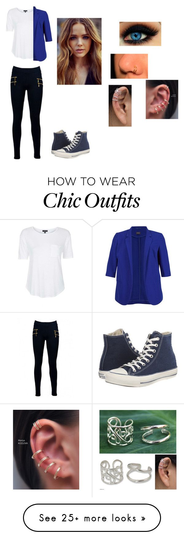 """""""Me as a bella (pitch perfect two)"""" by anime-lover2015 on Polyvore featuring Topshop, M&S Collection, Converse and NOVICA"""